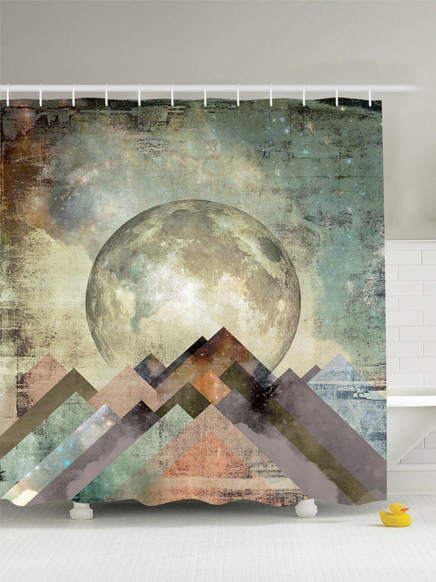 Штора для ванной комнаты Magic Lady Планета над горным хребтом, 180 х 200 смшв_5279Штора Magic Lady Планета над горным хребтом, изготовленная из высококачественного сатена (полиэстер 100%), отлично дополнит любой интерьер ванной комнаты. При изготовлении используются специальные гипоаллергенные чернила для прямой печати по ткани, безопасные для человека.В комплекте: 1 штора, 12 крючков. Обращаем ваше внимание, фактический цвет изделия может незначительно отличаться от представленного на фото.