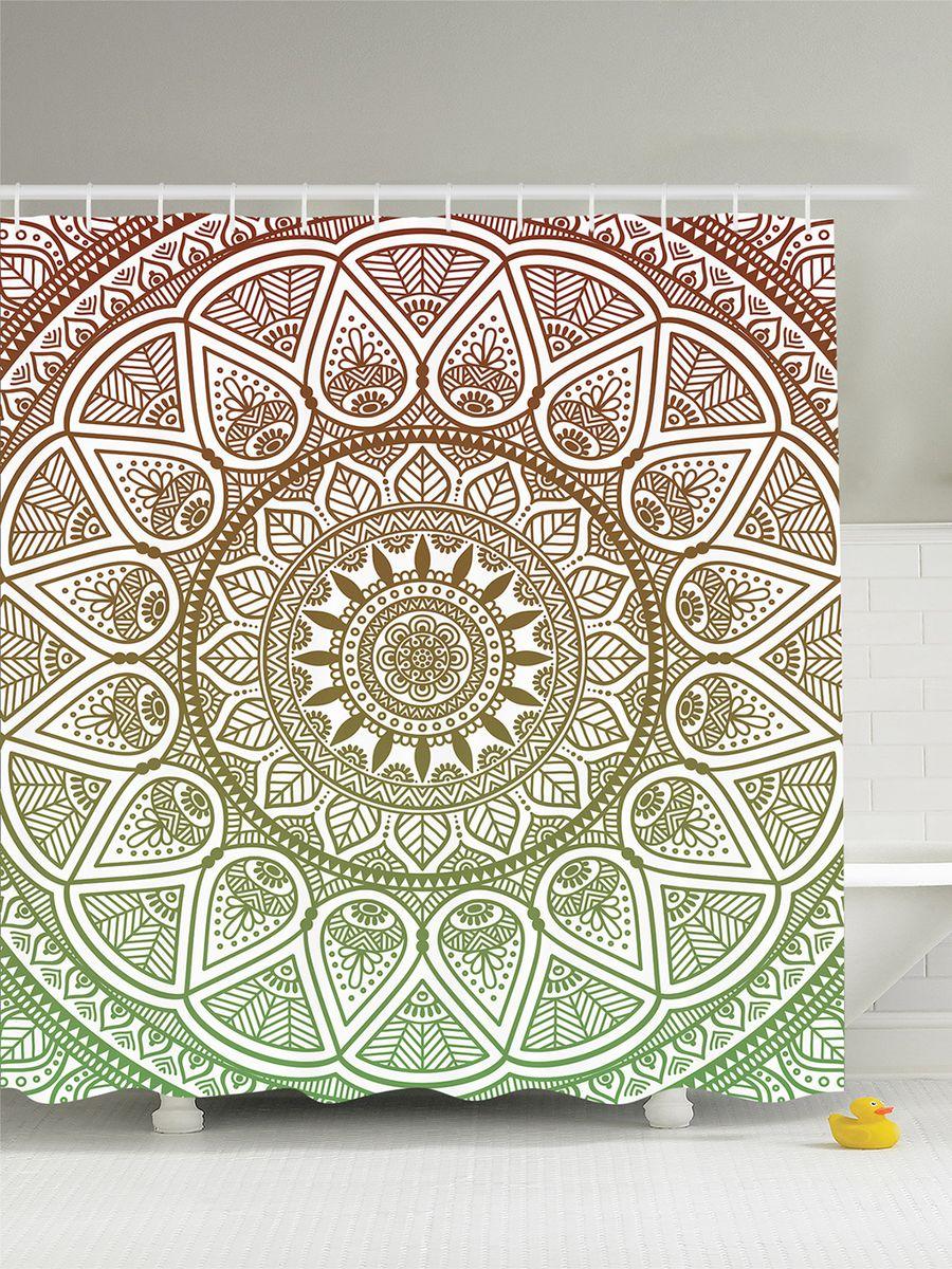 Штора для ванной комнаты Magic Lady Зелено-коричневая мандала, 180 х 200 смшв_8125Штора Magic Lady Зелено-коричневая мандала, изготовленная из высококачественного сатена (полиэстер 100%), отлично дополнит любой интерьер ванной комнаты. При изготовлении используются специальные гипоаллергенные чернила для прямой печати по ткани, безопасные для человека.В комплекте: 1 штора, 12 крючков. Обращаем ваше внимание, фактический цвет изделия может незначительно отличаться от представленного на фото.