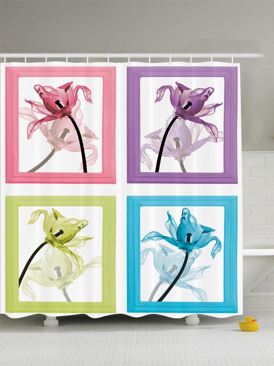Штора для ванной комнаты Magic Lady Декоративные цветы в рамках, 180 х 200 смшв_12382Штора Magic Lady Декоративные цветы в рамках, изготовленная из высококачественного сатена (полиэстер 100%), отлично дополнит любой интерьер ванной комнаты. При изготовлении используются специальные гипоаллергенные чернила для прямой печати по ткани, безопасные для человека.В комплекте: 1 штора, 12 крючков. Обращаем ваше внимание, фактический цвет изделия может незначительно отличаться от представленного на фото.