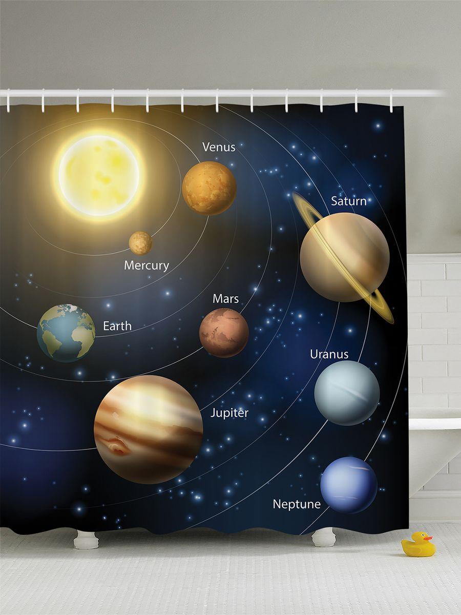 Штора для ванной комнаты Magic Lady Планеты, 180 х 200 см игрушки для детей