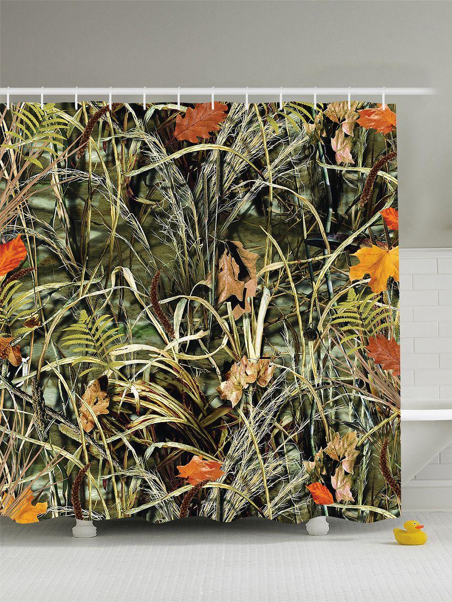 Штора для ванной комнаты Magic Lady Осеняя трава, опавшие листья, 180 х 200 см391602Штора Magic Lady Осеняя трава, опавшие листья, изготовленная из высококачественного сатена (полиэстер 100%), отлично дополнит любой интерьер ванной комнаты. При изготовлении используются специальные гипоаллергенные чернила для прямой печати по ткани, безопасные для человека.В комплекте: 1 штора, 12 крючков. Обращаем ваше внимание, фактический цвет изделия может незначительно отличаться от представленного на фото.