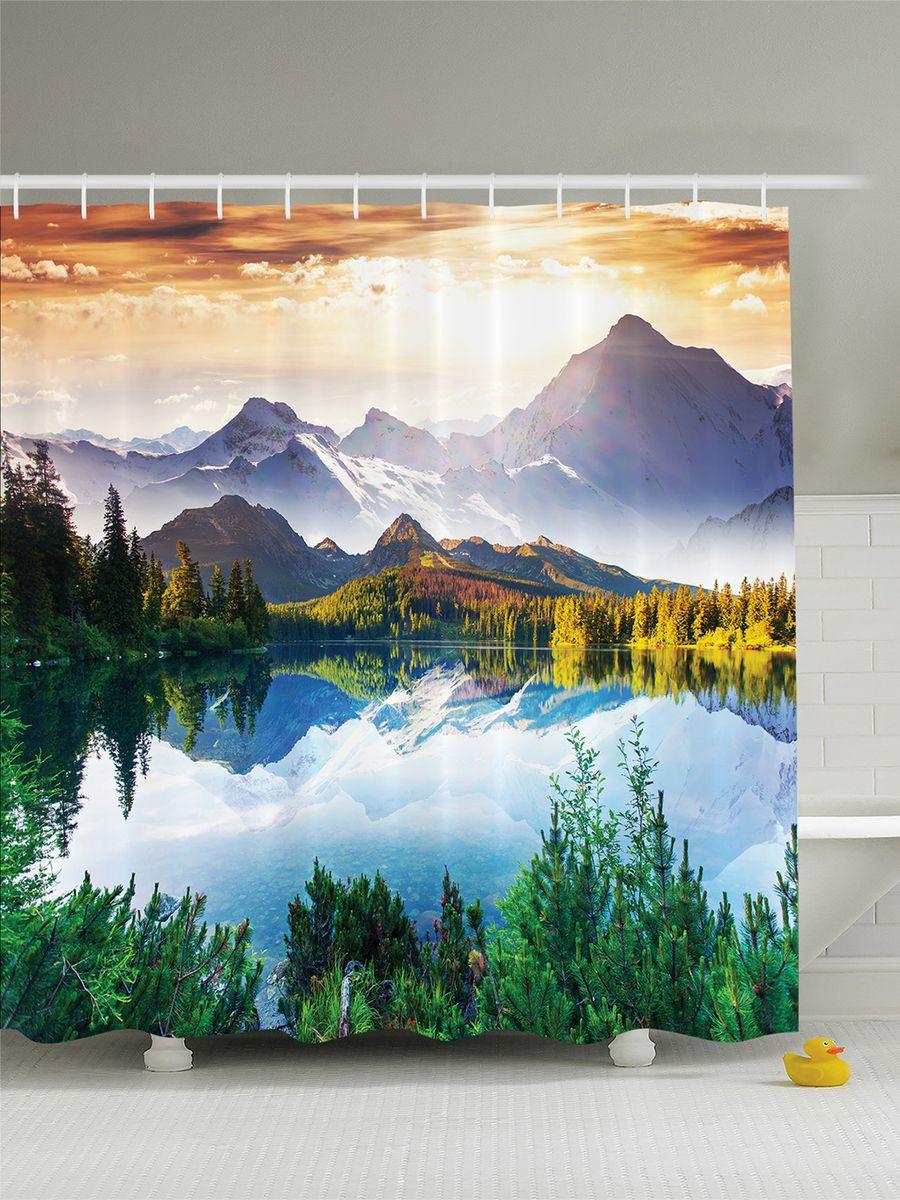Штора для ванной комнаты Magic Lady Природа чистой планеты, 180 х 200 смшв_3471Штора Magic Lady Природа чистой планеты, изготовленная из высококачественного сатена (полиэстер 100%), отлично дополнит любой интерьер ванной комнаты. При изготовлении используются специальные гипоаллергенные чернила для прямой печати по ткани, безопасные для человека.В комплекте: 1 штора, 12 крючков. Обращаем ваше внимание, фактический цвет изделия может незначительно отличаться от представленного на фото.