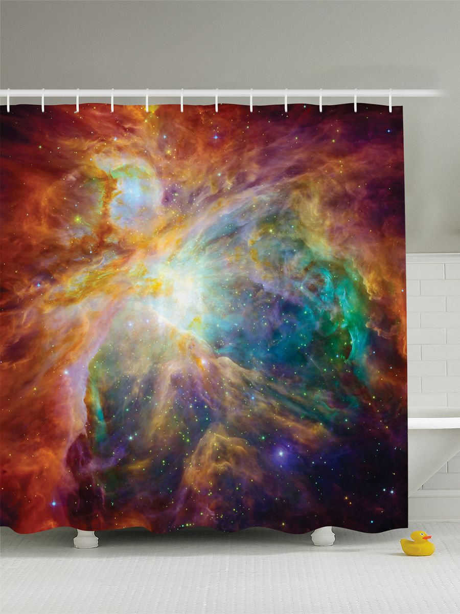 Штора для ванной комнаты Magic Lady Вселенная звезд. Космическое пространство, 180 х 200 смшв_8366Штора Magic Lady Вселенная звезд. Космическое пространство, изготовленная из высококачественного сатена (полиэстер 100%), отлично дополнит любой интерьер ванной комнаты. При изготовлении используются специальные гипоаллергенные чернила для прямой печати по ткани, безопасные для человека.В комплекте: 1 штора, 12 крючков. Обращаем ваше внимание, фактический цвет изделия может незначительно отличаться от представленного на фото.