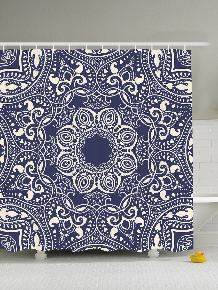 Штора для ванной комнаты Magic Lady Цветочный орнамент, 180 х 200 смшв_8087Штора Magic Lady Цветочный орнамент, изготовленная из высококачественного сатена (полиэстер 100%), отлично дополнит любой интерьер ванной комнаты. При изготовлении используются специальные гипоаллергенные чернила для прямой печати по ткани, безопасные для человека.В комплекте: 1 штора, 12 крючков. Обращаем ваше внимание, фактический цвет изделия может незначительно отличаться от представленного на фото.