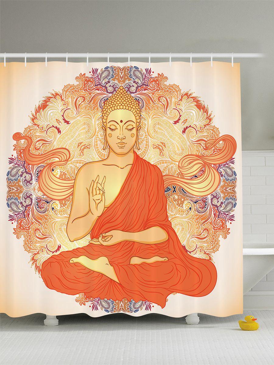 Штора для ванной комнаты Magic Lady Буддизм, 180 х 200 смшв_8087Штора Magic Lady Буддизм, изготовленная из высококачественного сатена (полиэстер 100%), отлично дополнит любой интерьер ванной комнаты. При изготовлении используются специальные гипоаллергенные чернила для прямой печати по ткани, безопасные для человека.В комплекте: 1 штора, 12 крючков. Обращаем ваше внимание, фактический цвет изделия может незначительно отличаться от представленного на фото.