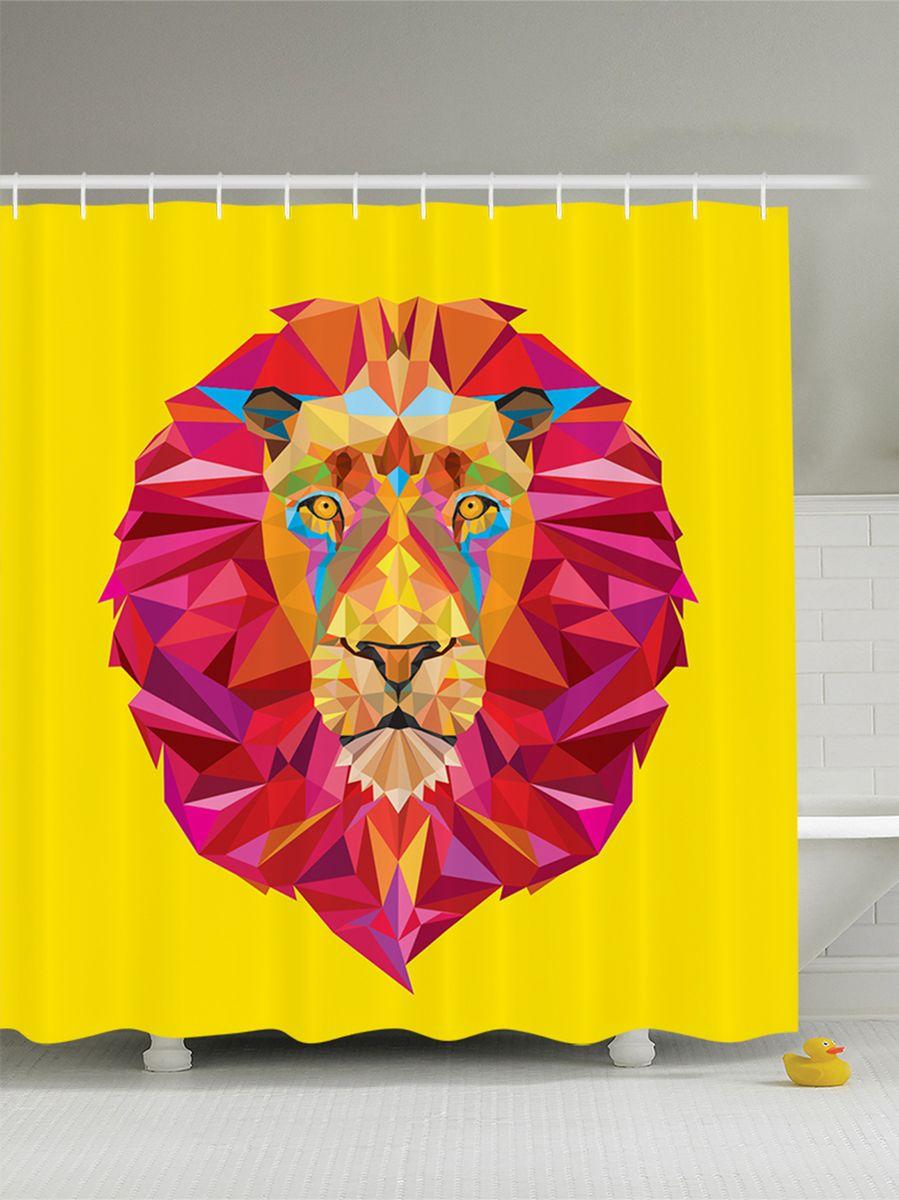 Штора для ванной комнаты Magic Lady Лев с розовой гривой, 180 х 200 смшв_7530Штора Magic Lady Лев с розовой гривой, изготовленная из высококачественного сатена (полиэстер 100%), отлично дополнит любой интерьер ванной комнаты. При изготовлении используются специальные гипоаллергенные чернила для прямой печати по ткани, безопасные для человека.В комплекте: 1 штора, 12 крючков. Обращаем ваше внимание, фактический цвет изделия может незначительно отличаться от представленного на фото.