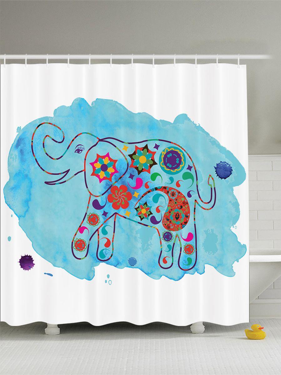 Штора для ванной комнаты Magic Lady Разноцветный слон, 180 х 200 смES-412Штора Magic Lady Разноцветный слон, изготовленная из высококачественного сатена (полиэстер 100%), отлично дополнит любой интерьер ванной комнаты. При изготовлении используются специальные гипоаллергенные чернила для прямой печати по ткани, безопасные для человека.В комплекте: 1 штора, 12 крючков. Обращаем ваше внимание, фактический цвет изделия может незначительно отличаться от представленного на фото.