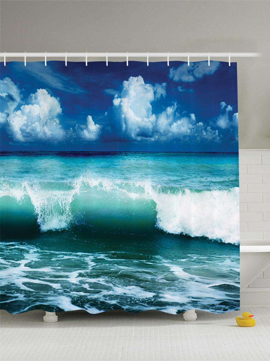Штора для ванной комнаты Magic Lady Зеленая волна, 180 х 200 смшв_8243Штора Magic Lady Зеленая волна, изготовленная из высококачественного сатена (полиэстер 100%), отлично дополнит любой интерьер ванной комнаты. При изготовлении используются специальные гипоаллергенные чернила для прямой печати по ткани, безопасные для человека.В комплекте: 1 штора, 12 крючков. Обращаем ваше внимание, фактический цвет изделия может незначительно отличаться от представленного на фото.