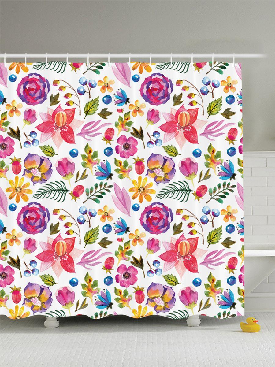 Штора для ванной комнаты Magic Lady Орнамент. Цветы, листья и ягоды, 180 х 200 смшв_12485Штора Magic Lady Орнамент. Цветы, листья и ягоды, изготовленная из высококачественного сатена (полиэстер 100%), отлично дополнит любой интерьер ванной комнаты. При изготовлении используются специальные гипоаллергенные чернила для прямой печати по ткани, безопасные для человека.В комплекте: 1 штора, 12 крючков. Обращаем ваше внимание, фактический цвет изделия может незначительно отличаться от представленного на фото.