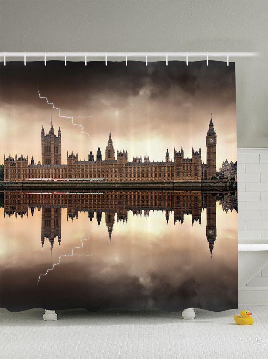 Штора для ванной комнаты Magic Lady Гроза над домом парламента в Лондоне. Биг Бен, 180 х 200 смшв_7259Штора Magic Lady Гроза над домом парламента в Лондоне. Биг Бен, изготовленная из высококачественного сатена (полиэстер 100%), отлично дополнит любой интерьер ванной комнаты. При изготовлении используются специальные гипоаллергенные чернила для прямой печати по ткани, безопасные для человека.В комплекте: 1 штора, 12 крючков. Обращаем ваше внимание, фактический цвет изделия может незначительно отличаться от представленного на фото.