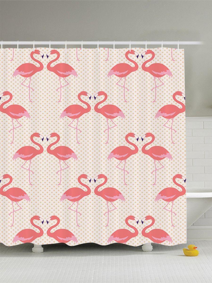Штора для ванной комнаты Magic Lady Розовые фламинго, 180 х 200 см68/5/3Штора Magic Lady Розовые фламинго, изготовленная из высококачественного сатена (полиэстер 100%), отлично дополнит любой интерьер ванной комнаты. При изготовлении используются специальные гипоаллергенные чернила для прямой печати по ткани, безопасные для человека.В комплекте: 1 штора, 12 крючков. Обращаем ваше внимание, фактический цвет изделия может незначительно отличаться от представленного на фото.