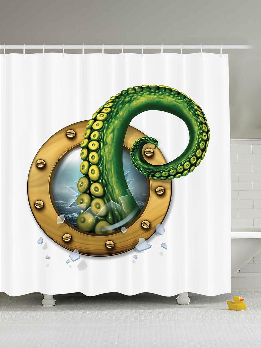 Штора для ванной комнаты Magic Lady Щупальце осьминога, 180 х 200 см25051 7_желтыйШтора Magic Lady Щупальце осьминога, изготовленная из высококачественного сатена (полиэстер 100%), отлично дополнит любой интерьер ванной комнаты. При изготовлении используются специальные гипоаллергенные чернила для прямой печати по ткани, безопасные для человека.В комплекте: 1 штора, 12 крючков. Обращаем ваше внимание, фактический цвет изделия может незначительно отличаться от представленного на фото.