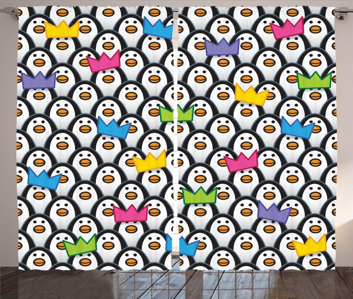 Комплект фотоштор Magic Lady Императорские пингвины, на ленте, высота 265 смшсг_11864Фотошторы Magic Lady Императорские пингвины, изготовленные из высококачественного сатена (полиэстер 100%), отлично дополнят любой интерьер. При изготовлении используются специальные гипоаллергенные чернила для прямой печати по ткани, безопасные для человека и животных. Крепление на карниз при помощи шторной ленты на крючки.В комплекте 2 шторы, 50 крючков. Ширина одного полотна: 145 см.Высота штор: 265 см.Изображение на мониторе может немного отличаться от реального.