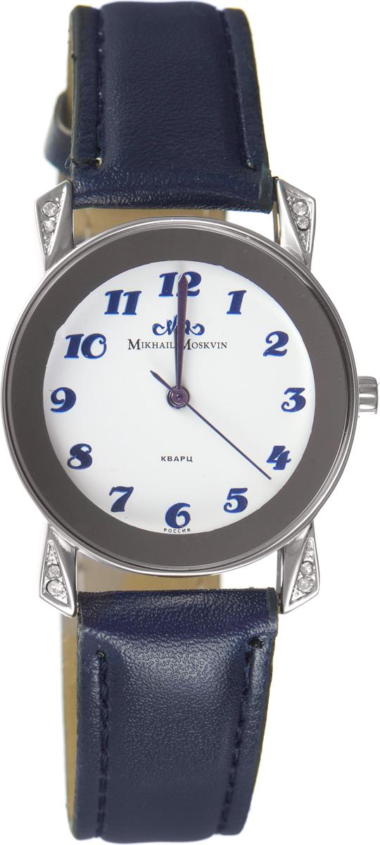 Zakazat.ru Часы наручные женские Mikhail Moskvin Каприз, цвет: серебристый, темно-синий. 582-6-1 new
