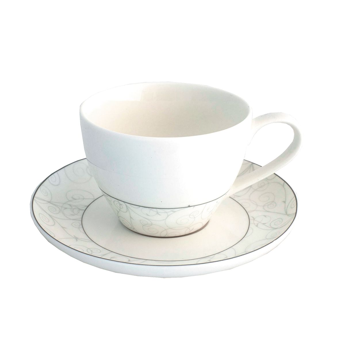 Набор чайный Esprado Florestina, 12 предметов471355Чайный набор Esprado Florestina состоит из шести чашек и шести блюдец, изготовленных из высококачественного костяного фарфора. Над созданием дизайна коллекций посуды из фарфора Esprado работает международная команда высококлассных дизайнеров, не только воплощающих в жизнь все новейшие тренды, но также и придерживающихся многовековых традиций при создании классических коллекций. Посуда из костяного фарфора будет идеальным выбором, для тех, кто предпочитает красивую современную посуду из высококачественного материала, которая отличается высокой прочностью и подходит для ежедневного использования. Сдержанный блеск серебра в сочетании с утонченными узорами на идеальном фоне из высококачественного костяного фарфора - европейская изысканность коллекции Florestina даже самый обычный ужин превратит в праздник!Можно использовать в микроволновки печи и мыть в посудомоечной машине.