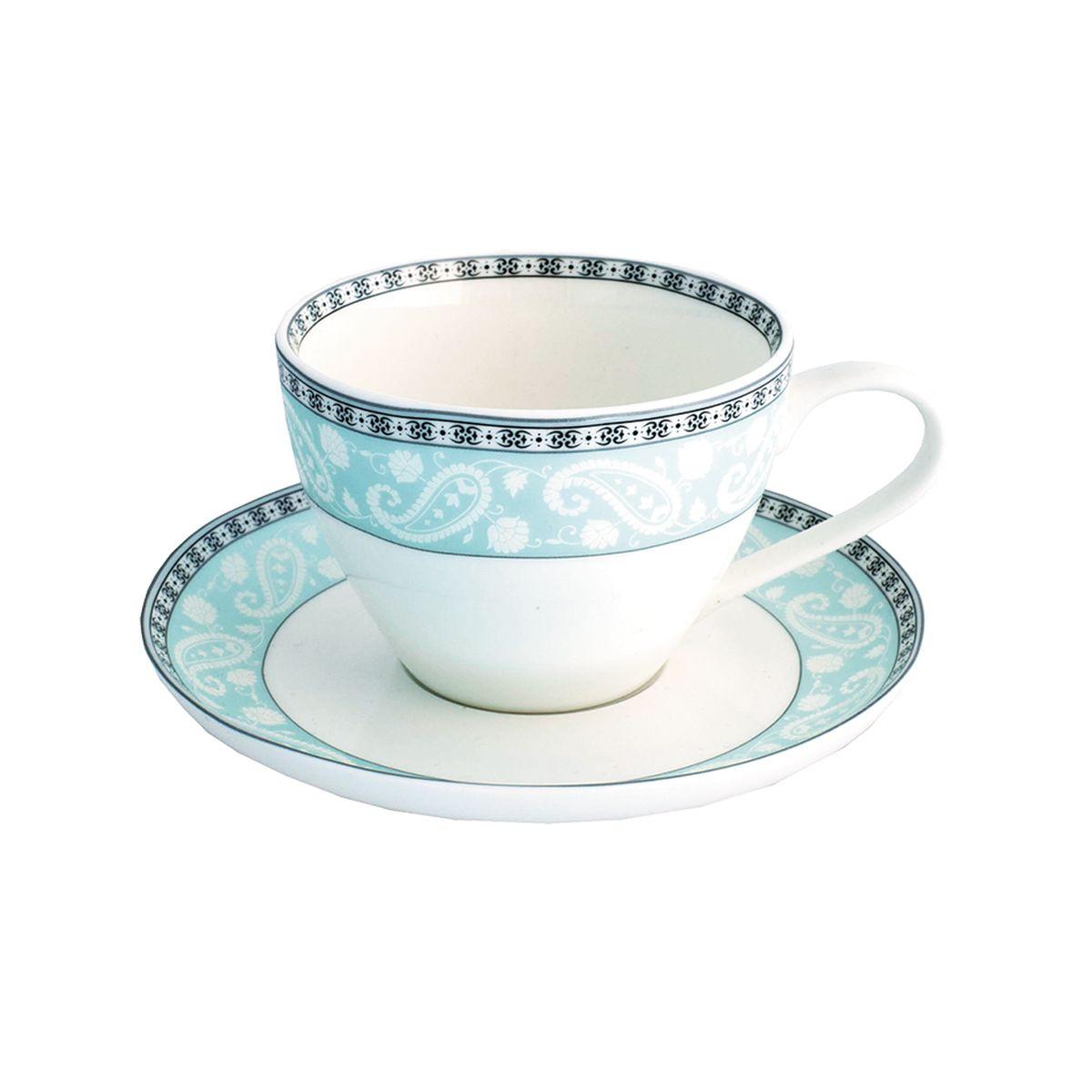 Набор чайный Esprado Arista Blue, 12 предметовVT-1520(SR)Чайный набор Esprado Arista Blue состоит из шести чашек и шести блюдец, изготовленных из высококачественного твердого фарфора. Над созданием дизайна коллекций посуды из фарфора Esprado работает международная команда высококлассных дизайнеров, не только воплощающих в жизнь все новейшие тренды, но также и придерживающихся многовековых традиций при создании классических коллекций. Посуда из костяного фарфора будет идеальным выбором, для тех, кто предпочитает красивую современную посуду из высококачественного материала, которая отличается высокой прочностью и подходит для ежедневного использования. Столовая посуда Arista Blue выполнена в благородном голубом оттенке и позволит создать за столом изысканную атмосферу без лишней вычурности.Можно использовать в микроволновки печи и мыть в посудомоечной машине.