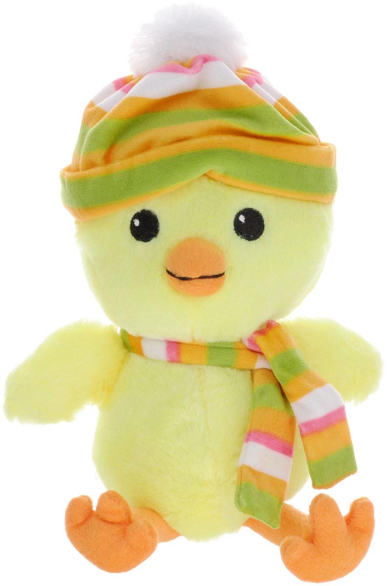 Gulliver Мягкая игрушка Цыпленок Цыпа в шапочке с шарфом 20 см gulliver мягкая игрушка цыпленок цыпа в нагруднике 20 см