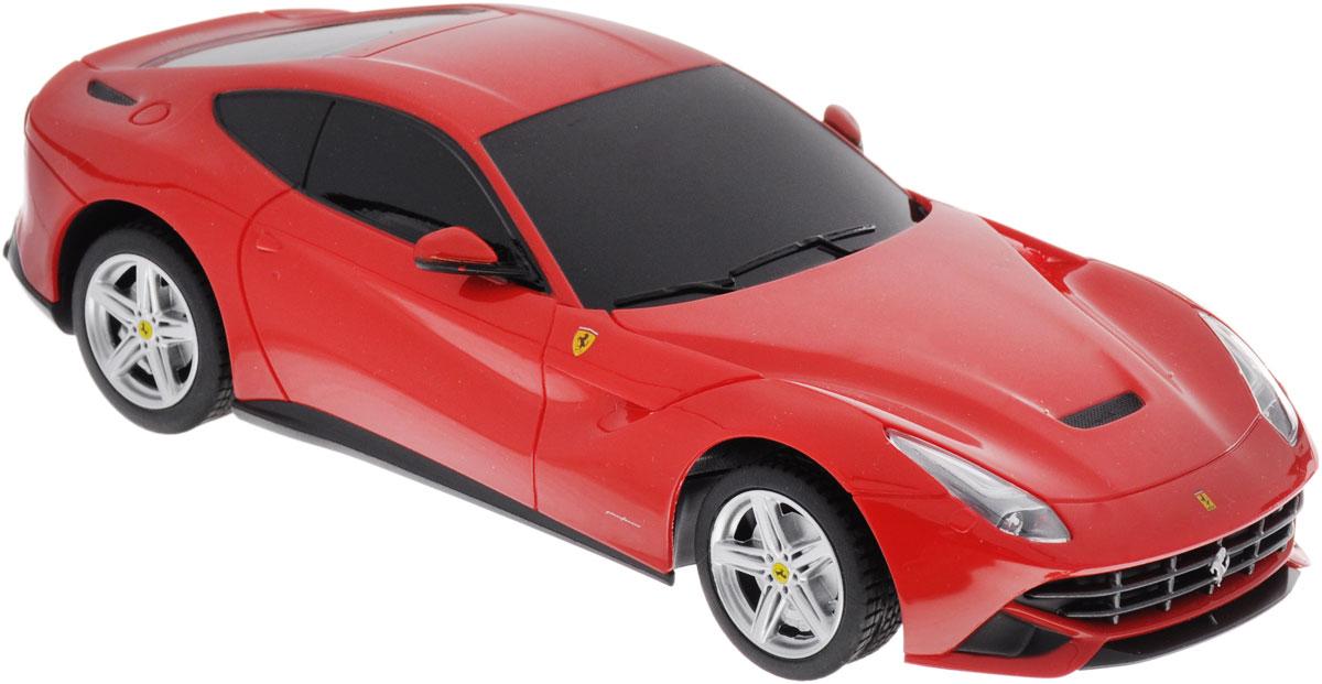 """Радиоуправляемая модель Rastar """"Ferrari F12 Berlinetta"""" предназначена для тех, кто любит роскошь и высокие скорости. Благодаря броской внешности, а также великолепной точности, с которой создатели этой модели масштабом 1/24 передали внешний вид настоящего автомобиля, модель станет подлинным украшением любой коллекции авто. Управление машиной происходит с помощью пульта. Машинка двигается вперед и назад, поворачивает направо, налево и останавливается. Пульт управления работает на частоте 27 MHz. Радиоуправляемые игрушки способствуют развитию координации движений, моторики и ловкости. Ваш ребенок увлеченно будет играть с моделью, придумывая различные истории и устраивая соревнования. Порадуйте его таким замечательным подарком! Для работы машины необходимо купить 3 батарейки типа АА (не входят в комплект). Для работы пульта управления необходимо купить 2 батарейки типа АА (не входят в комплект)."""