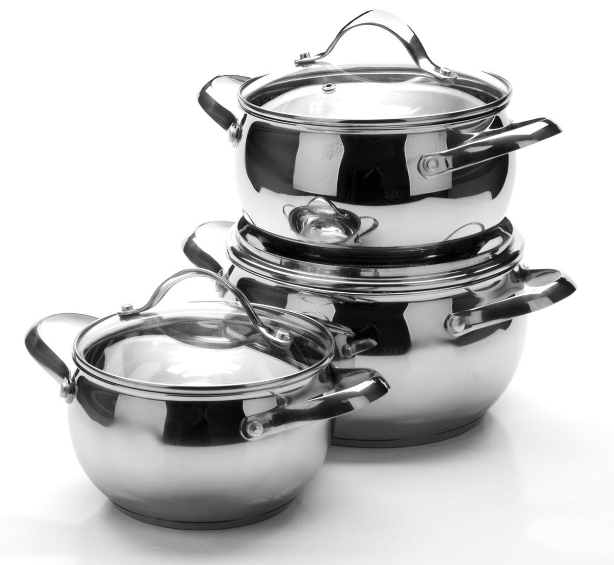 Набор посуды Mayer & Boch, 6 предметов. 250953916022+2,7+3,7л