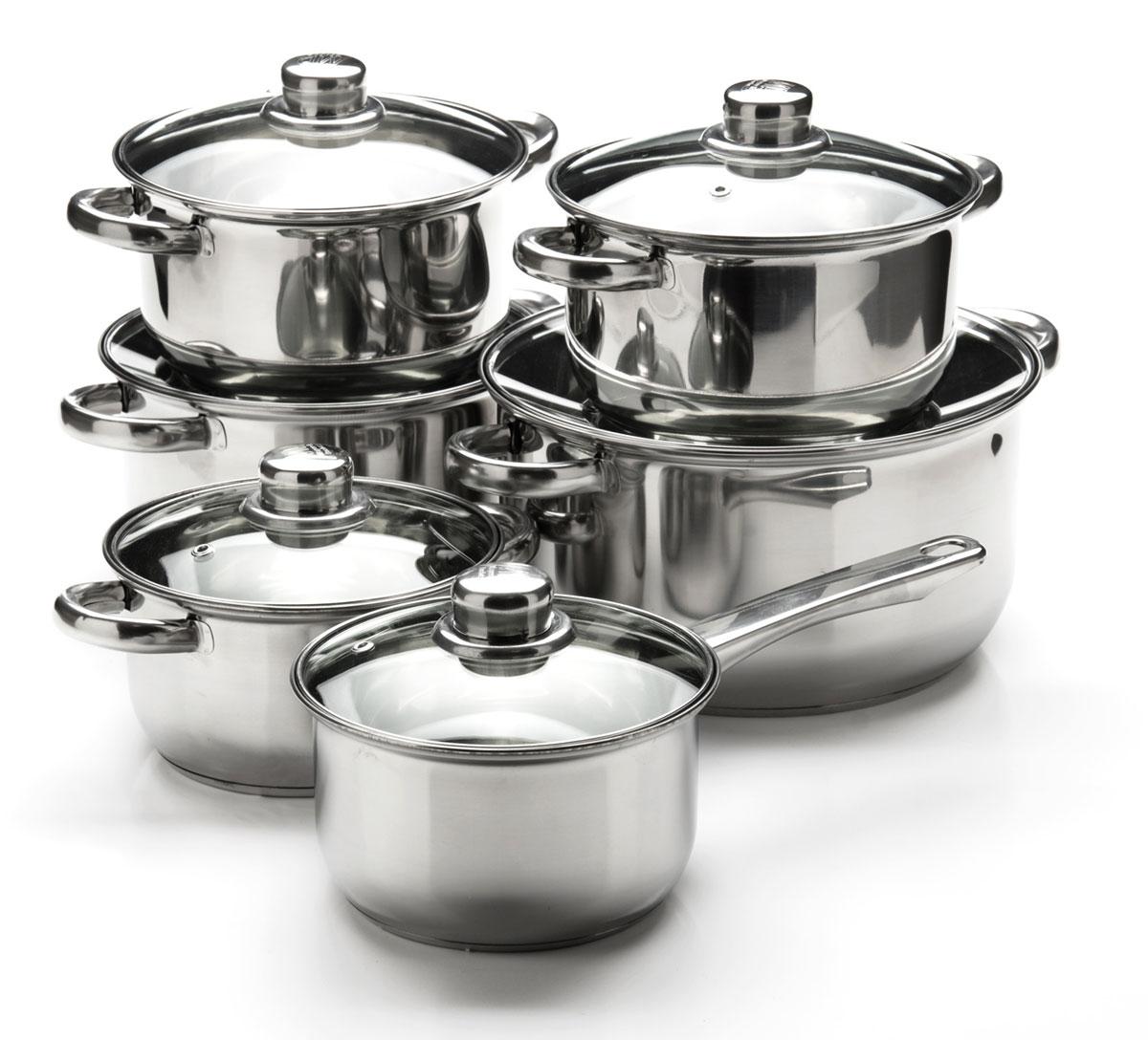 Набор посуды Mayer & Boch, 12 предметов. 2575125751Набор посуды станет отличным дополнением к набору кухонной утвари. С его приобретением приготовление ваших любимых блюд перейдет на качественно новый уровень и вы сможете воплотить в жизнь любые кулинарные идеи. В комплект входят 12 предметов: сотейник (объем 1,4 л), 3 кастрюли (объем 1,4, 2,9, 4,9 л) и 2 кастрюли ( объем 2 л), 6 крышек. Набор многофункционален и удобен в использовании, подойдет для варки супов, приготовления блюд из мяса и рыбы, гарниров, соусов т. д.