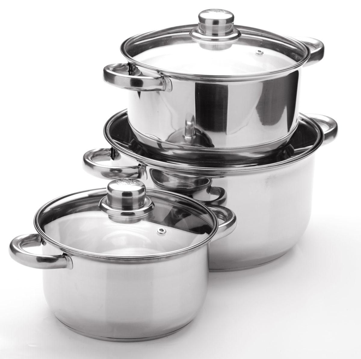 Набор посуды Mayer & Boch, 6 предметов. 2575368/5/2Набор посуды станет отличным дополнением к набору кухонной утвари. С его приобретением приготовление ваших любимых блюд перейдет на качественно новый уровень и вы сможете воплотить в жизнь любые кулинарные идеи. В комплект входят 6 предметов: 3 кастрюли (объем 2/ 2,9/ 4,9), 3 крышки. Набор многофункционален и удобен в использовании, подойдет для варки супов, приготовления блюд из мяса и рыбы, гарниров, соусов т. д.