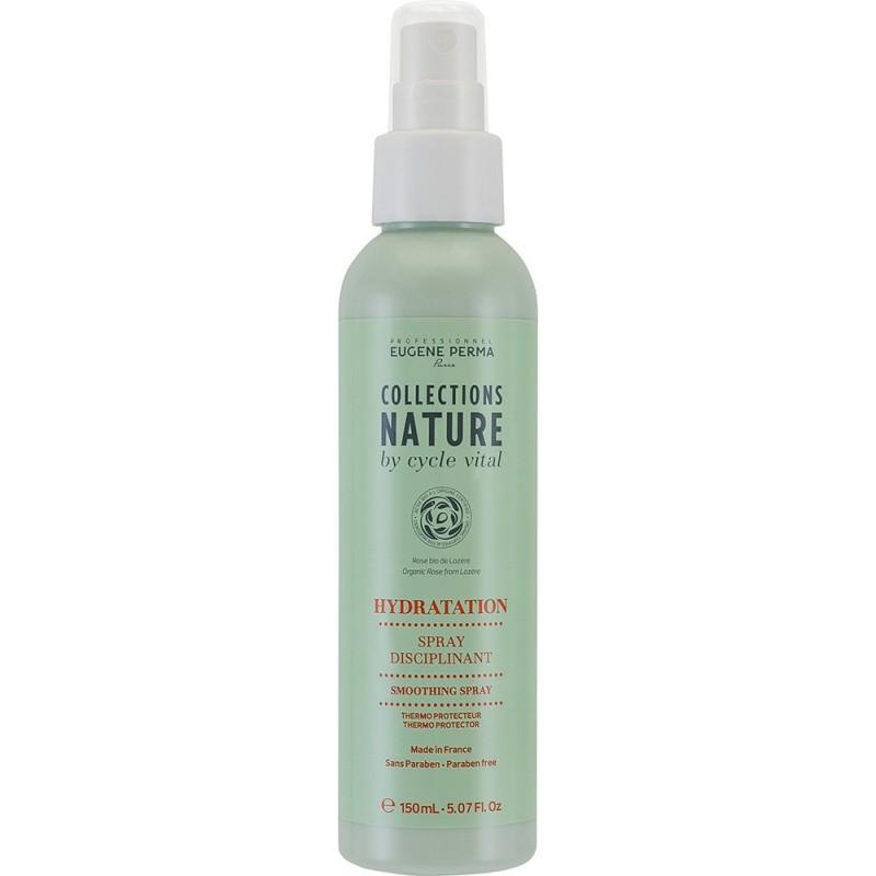 Eugene Perma Cycle Vital Nature Spray Disciplinant - Спрей для волос термозащитный 150 млMP59.4DДеликатно питает и увлажняет волосы, придает им эластичность. Защищает от высокой температуры во время выпрямления или сушки феном. Предотвращает появление статического электричества. Не смывать!