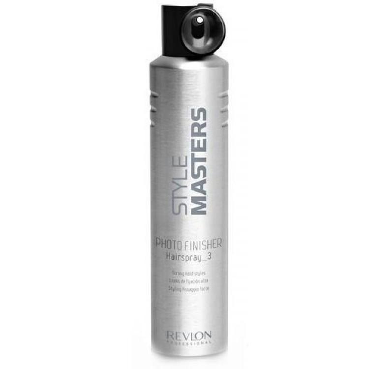Revlon Professional SM Hairspray Photo Finisher - Лак сильной фиксации 500 млMP59.4DНередко в нашей жизни происходят события, которые требуют от нас идеального внешнего вида: эффектного макияжа, стильной одежды, безупречной причёски, за которой не требуется ухаживать в течение дня. Лак сильной фиксации Hairspray Photo Finisher от Revlon Professional поможет вашей укладке сохранить свой потрясающий внешний вид на целый день. Этот продукт для укладки из серии Style Masters оснащён специальным аппликатором, облегчающим нанесение на волосы. Благодаря этому, вы можете равномерно распределять лак по всей причёске. «Хэйрспрей Фото Финишер» обеспечивает мгновенную фиксацию надолго. Средство легко удаляется, не оставляя следов.
