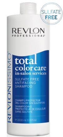 Revlon Professional Revlonissimo Total Color Care Shampoo - Шампунь анти-вымывание цвета без сульфатов 1000 млFS-00897Мягкий шампунь, специально разработан для защиты окрашенных волос против вымывания цвета, вызываемого частым мытьем волос. Защита от вымывания . Содержит пленкообразующий полимер, который защищает окрашенные волосы от потери и вымывания пигмента красителя. Антиоксидантный эффект. Клюква содержит антиоксиданты, которые помогают блокировать действие свободных радикалов и предотвратить окисление пигментов после процедуры окрашивания. Уход и восстановление. Провитамин В5 укрепляет структуру волосяного волокна и увлажняет волосы. Придает волосам эластичность, предотвращает ломкость, которая может произойти при расчесывании волос.
