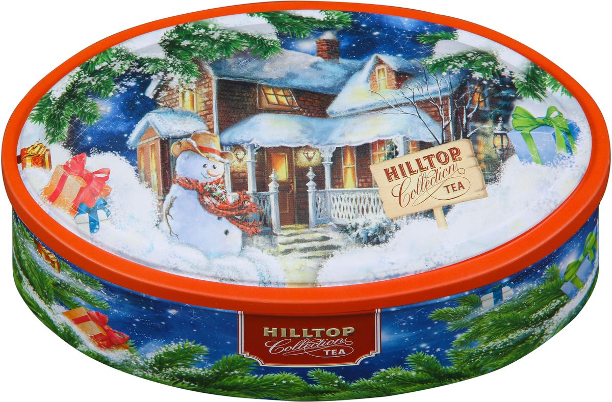 Hilltop Подарок Цейлона. Новогоднее настроение черный листовой чай, 100 г101246Hilltop Подарок Цейлона. Новогоднее настроение - крупнолистовой цейлонский черный чай с насыщенным ароматом и терпким вкусом прекрасно тонизирует и согревает в любое время дня! Оригинальный дизайн упаковки с изображением новогоднего пейзажа, развеселит и подарит хорошее настроение всем, кому достанется в подарок этот чай!