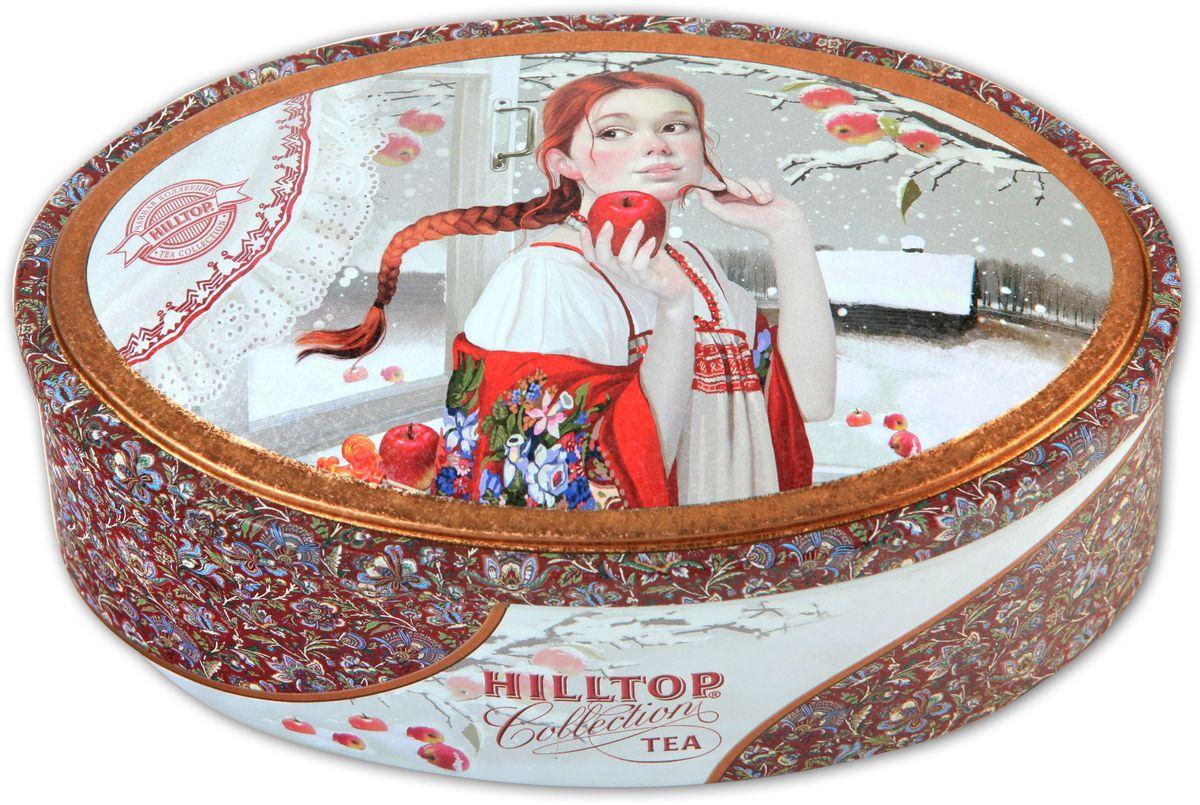 Hilltop Шкатулка Первый снег Королевское золото черный листовой чай, 100 г101246Чай Королевское Золото – крупнолистовой терпкий чёрный чай стандарта Супер Пеко с лучших плантаций острова Цейлон. Поставляется в красочной подарочной упаковке. Отлично подойдет в качестве подарка на новогодние праздники.
