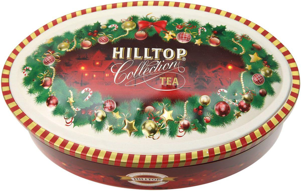 Hilltop Шкатулка Волшебная гирлянда Цейлонское утро черный листовой чай, 100 г0120710Чай Цейлонское Утро - классический черный чай с мягким ароматом и тонизирующими свойствами. Поставляется в красочной подарочной упаковке. Отлично подойдет в качестве подарка на новогодние праздники.