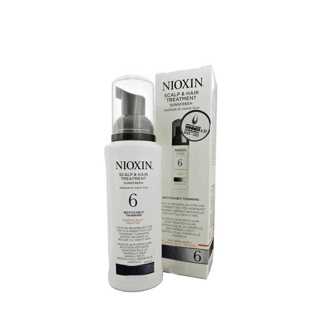 Nioxin Scalp Treatment System 6 - Питательная маска (Система 6) 200 млFS-36054Питательная маска от Ниоксин из системы 6 предназначена для жестких заметно редеющих волос, как натуральных, так и химически обработанных. Средство мягко питает и увлажняет волосы, а также нейтрализует дегидротестостерон. После применения питательной маски от Nioxin волосы становятся эластичными и гладкими, сильными и блестящими, красивыми и здоровыми.