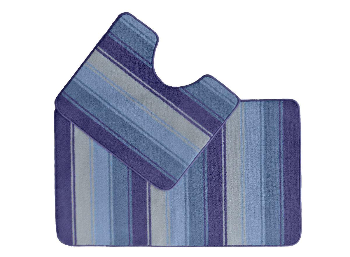 Набор ковриков для ванной комнаты Kamalak Tekstil, цвет: синий, 2 шт. УКВ-1022S03301004Ковры-паласы выполнены из полипропилена. Ковры обладают хорошими показателями теплостойкости и шумоизоляции. Являются гиппоалергенными. За счет невысокого ворса ковры легко чистить. Вам придется по душе широкая гамма цветов и возможность гармонично оформить интерьер. Практичный и устойчивый к износу ворс - от постоянного хождения не истирается, не накапливает статическое электричество. Структура волокна в полипропиленовых моделях гладкая, поэтому грязь не может выесться, на ворсе она скапливается с трудом. Полипропилен не впитывает влагу, отталкивает водянистые пятна. Уход: Самый простой способ избавить изделие от грязи – пропылесосить его с обеих сторон (лицевой и изнаночной).Влажная уборка с применением шампуней и моющих средств не противопоказана. Если шерсти и шёлку универсальные чистящие составы не подходят, то для синтетики они придутся в самый раз.Хранить их нужно рулоном, не складывая «салфеткой».При надлежащем уходе синтетический ковёр прослужит долго, не утратив ни яркости узора, ни блеска ворса, ни его упругости.