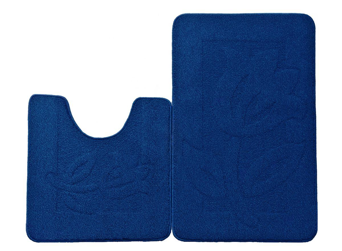 Набор ковриков для ванной комнаты Kamalak Tekstil, цвет: голубой, 2 шт531-105Ковры-паласы выполнены из полипропилена. Ковры обладают хорошими показателями теплостойкости и шумоизоляции. Являются гиппоалергенными. За счет невысокого ворса ковры легко чистить. Вам придется по душе широкая гамма цветов и возможность гармонично оформить интерьер. Практичный и устойчивый к износу ворс - от постоянного хождения не истирается, не накапливает статическое электричество. Структура волокна в полипропиленовых моделях гладкая, поэтому грязь не может выесться, на ворсе она скапливается с трудом. Полипропилен не впитывает влагу, отталкивает водянистые пятна. Уход: Самый простой способ избавить изделие от грязи – пропылесосить его с обеих сторон (лицевой и изнаночной).Влажная уборка с применением шампуней и моющих средств не противопоказана. Если шерсти и шёлку универсальные чистящие составы не подходят, то для синтетики они придутся в самый раз.Хранить их нужно рулоном, не складывая «салфеткой».При надлежащем уходе синтетический ковёр прослужит долго, не утратив ни яркости узора, ни блеска ворса, ни его упругости.