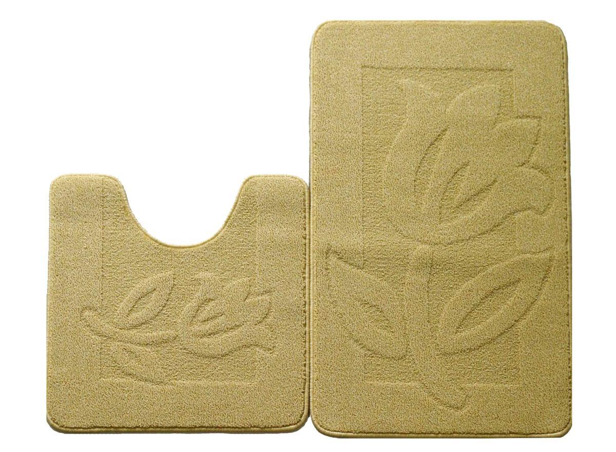 Набор ковриков для ванной комнаты Kamalak Tekstil, цвет: желтый, 2 штS03301004Ковры-паласы выполнены из полипропилена. Ковры обладают хорошими показателями теплостойкости и шумоизоляции. Являются гиппоалергенными. За счет невысокого ворса ковры легко чистить. Вам придется по душе широкая гамма цветов и возможность гармонично оформить интерьер. Практичный и устойчивый к износу ворс - от постоянного хождения не истирается, не накапливает статическое электричество. Структура волокна в полипропиленовых моделях гладкая, поэтому грязь не может выесться, на ворсе она скапливается с трудом. Полипропилен не впитывает влагу, отталкивает водянистые пятна. Уход: Самый простой способ избавить изделие от грязи – пропылесосить его с обеих сторон (лицевой и изнаночной).Влажная уборка с применением шампуней и моющих средств не противопоказана. Если шерсти и шёлку универсальные чистящие составы не подходят, то для синтетики они придутся в самый раз.Хранить их нужно рулоном, не складывая «салфеткой».При надлежащем уходе синтетический ковёр прослужит долго, не утратив ни яркости узора, ни блеска ворса, ни его упругости.