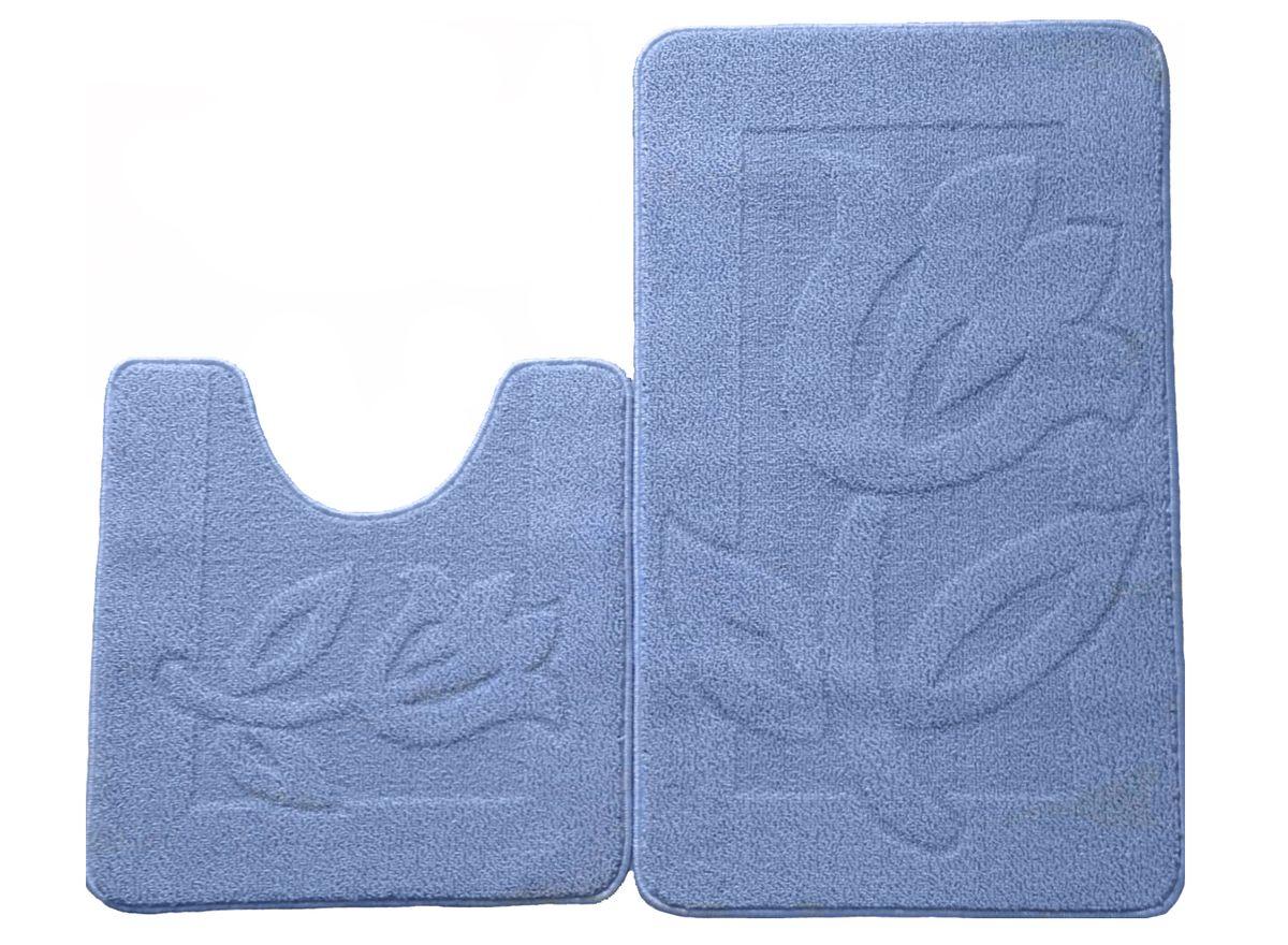 Набор ковриков для ванной комнаты Kamalak Tekstil, цвет: голубой, 2 шт. УКВ-1030391602Ковры-паласы выполнены из полипропилена. Ковры обладают хорошими показателями теплостойкости и шумоизоляции. Являются гиппоалергенными. За счет невысокого ворса ковры легко чистить. Вам придется по душе широкая гамма цветов и возможность гармонично оформить интерьер. Практичный и устойчивый к износу ворс - от постоянного хождения не истирается, не накапливает статическое электричество. Структура волокна в полипропиленовых моделях гладкая, поэтому грязь не может выесться, на ворсе она скапливается с трудом. Полипропилен не впитывает влагу, отталкивает водянистые пятна. Уход: Самый простой способ избавить изделие от грязи – пропылесосить его с обеих сторон (лицевой и изнаночной).Влажная уборка с применением шампуней и моющих средств не противопоказана. Если шерсти и шёлку универсальные чистящие составы не подходят, то для синтетики они придутся в самый раз.Хранить их нужно рулоном, не складывая «салфеткой».При надлежащем уходе синтетический ковёр прослужит долго, не утратив ни яркости узора, ни блеска ворса, ни его упругости.