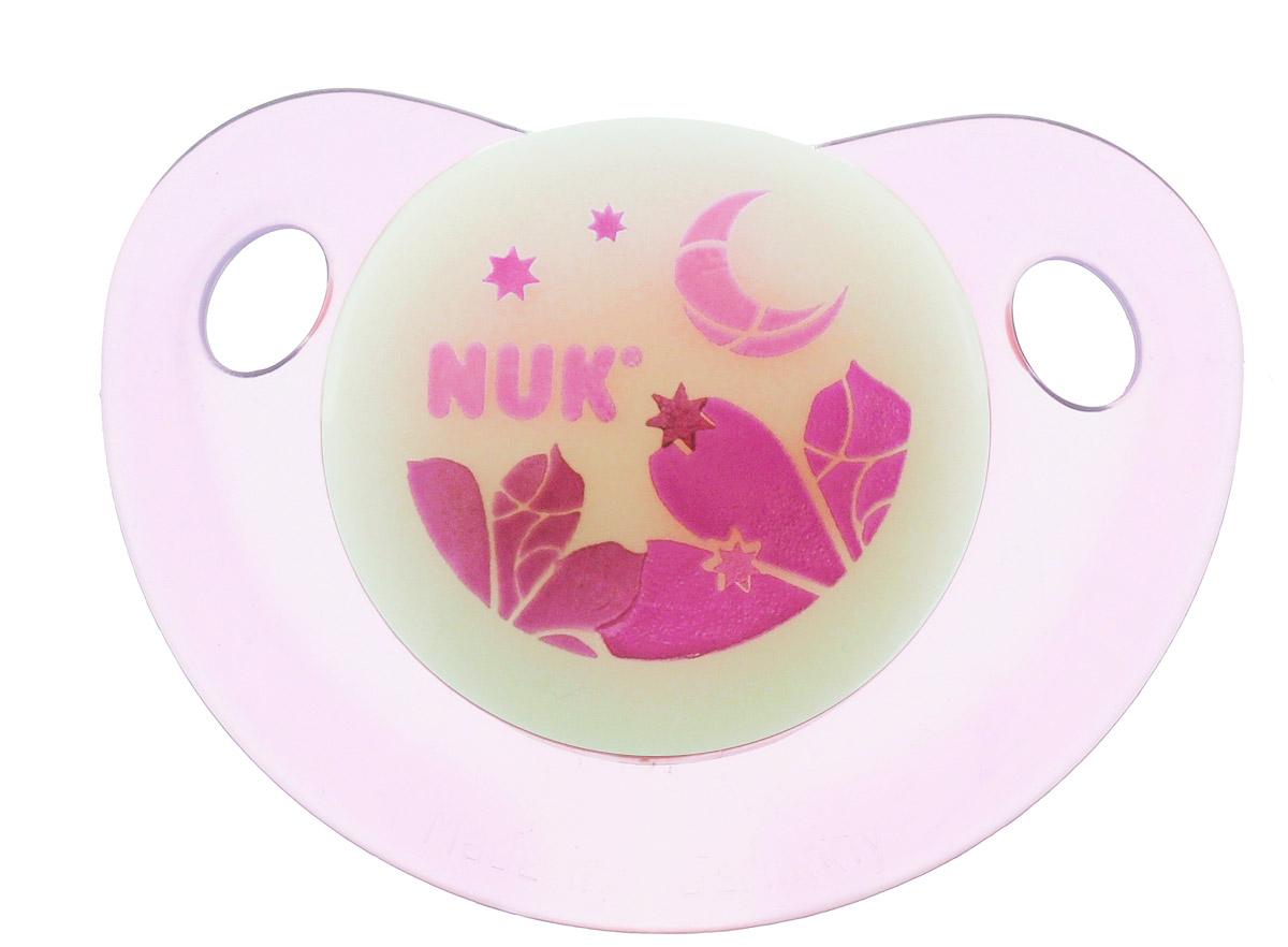 NUK Пустышка латексная для сна Луна ортодонтическая от 18 до 36 месяцев