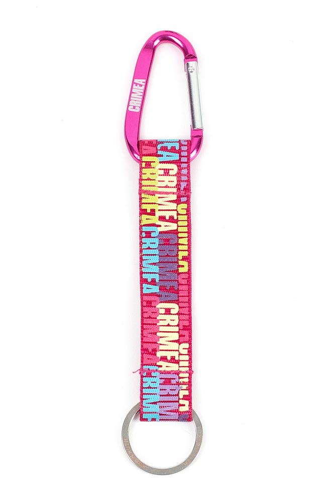 Брелок-ключница женская Robin Ruth, цвет: розовый. KCR001-B39864|Серьги с подвескамиБрелок-ключница Robin Ruth выполнена из парусины. Яркий дизайн дополнит ваш образ и будет приятным напоминаем о вашей поездке или милым сувениром близким и родным.