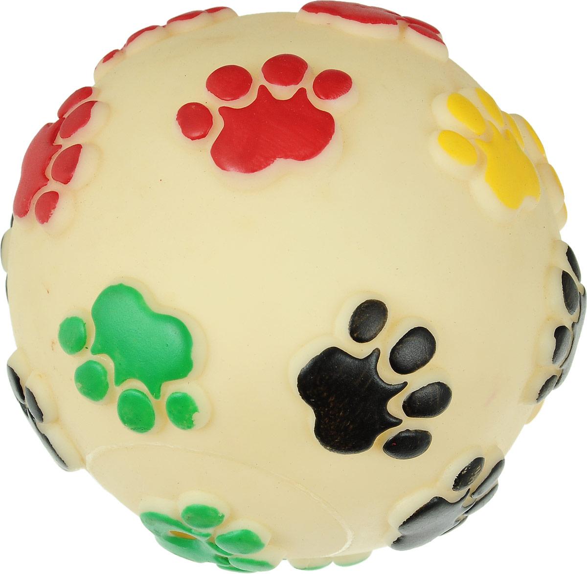 Игрушка для животных Каскад Мяч. Лапки, цвет: молочный, черный, зеленый, с пищалкой, диаметр 12,5 см27799310Игрушка Каскад Мяч. Лапки изготовлена из прочной и долговечной резины, устойчивой к разгрызанию. Необычная и забавная игрушка прекрасно подойдет для собак, любящих игрушки с пищалками. Такая игрушка порадует вашего любимца, а вам доставит массу приятных эмоций, ведь наблюдать за игрой всегда интересно и приятно. Диаметр: 12,5 см.