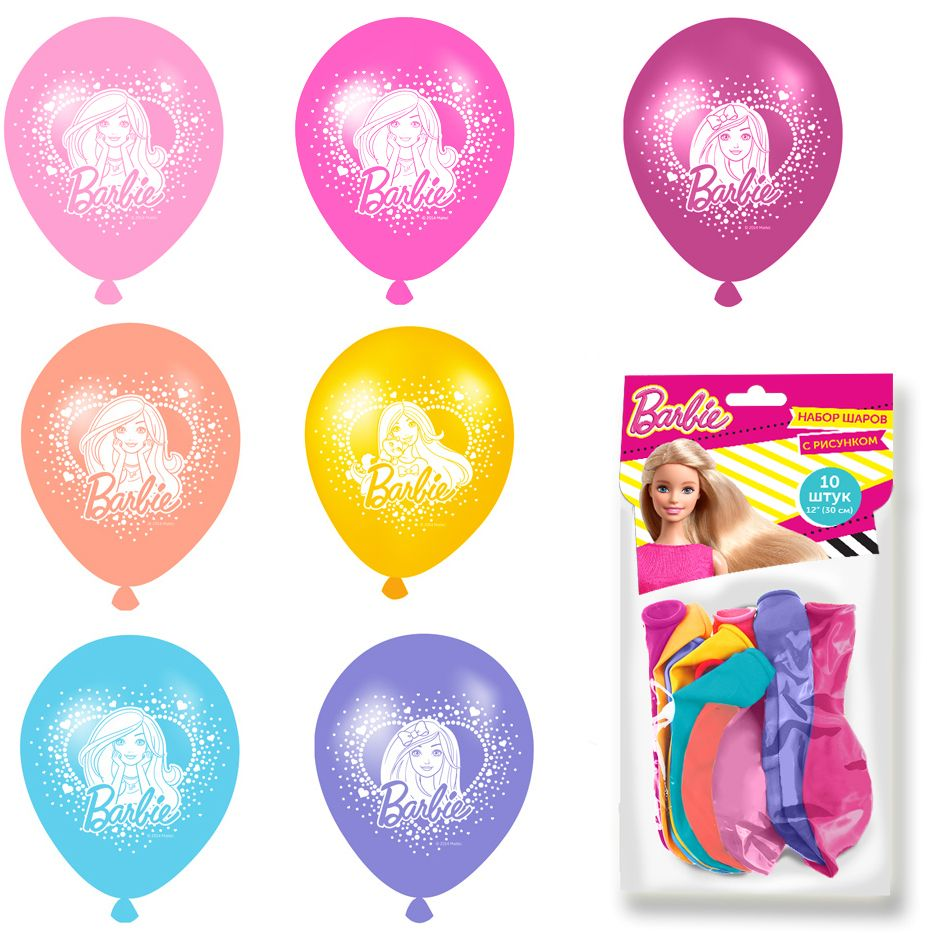 Barbie Набор детских воздушных шаров 10 шт