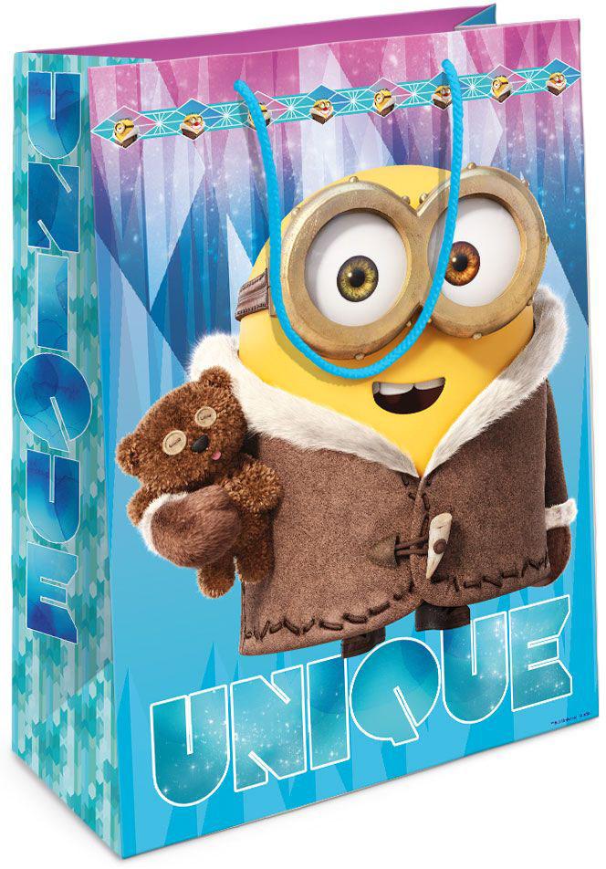 Universal Миньоны Пакет подарочный Зимний Миньон 35 см х 25 см х 9 см -  Аксессуары для детского праздника