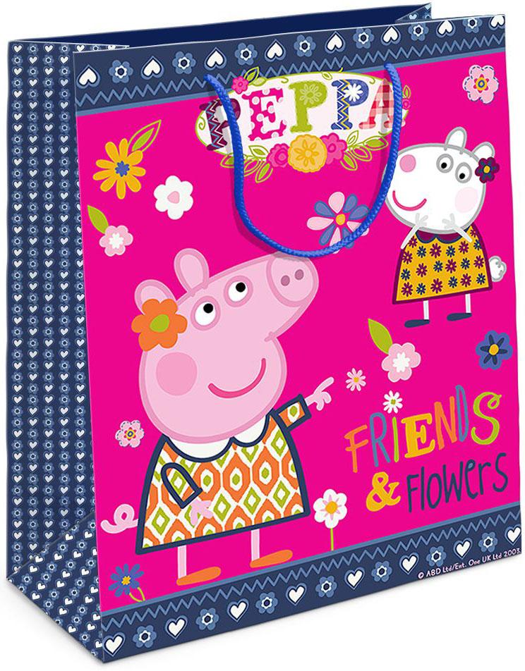 Peppa Pig Пакет подарочный Пеппа и Сьюзи 23 х 18 10 см