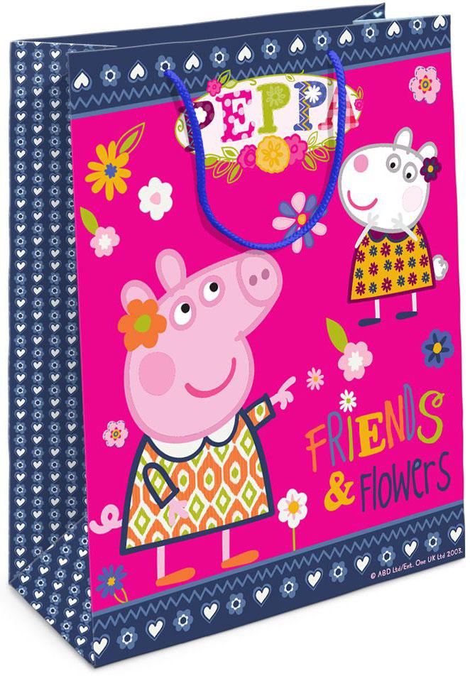 Peppa Pig Пакет подарочный Пеппа и Сьюзи 35 х 25 9 см