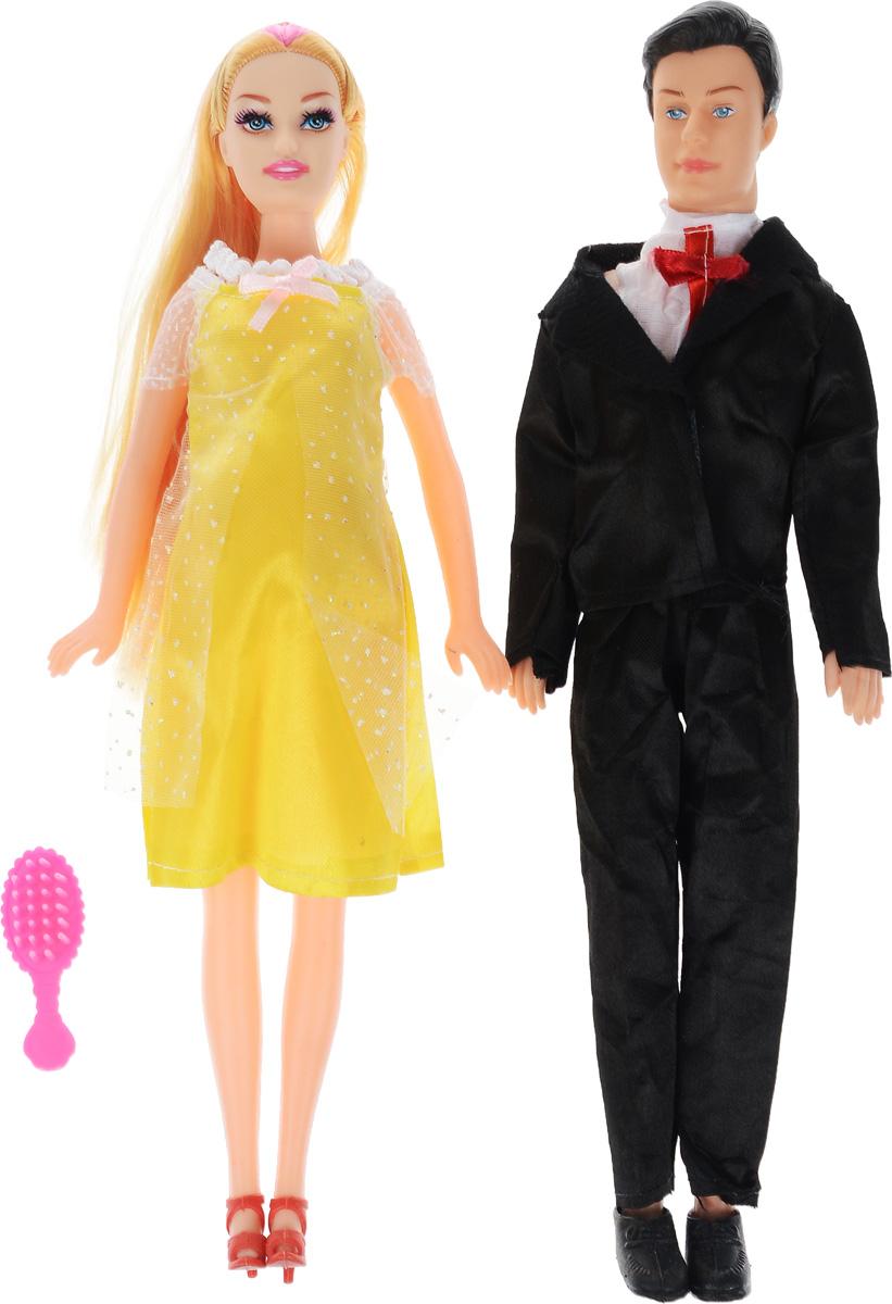 Shantou Набор кукол цвет одежды желтый черный 2 шт