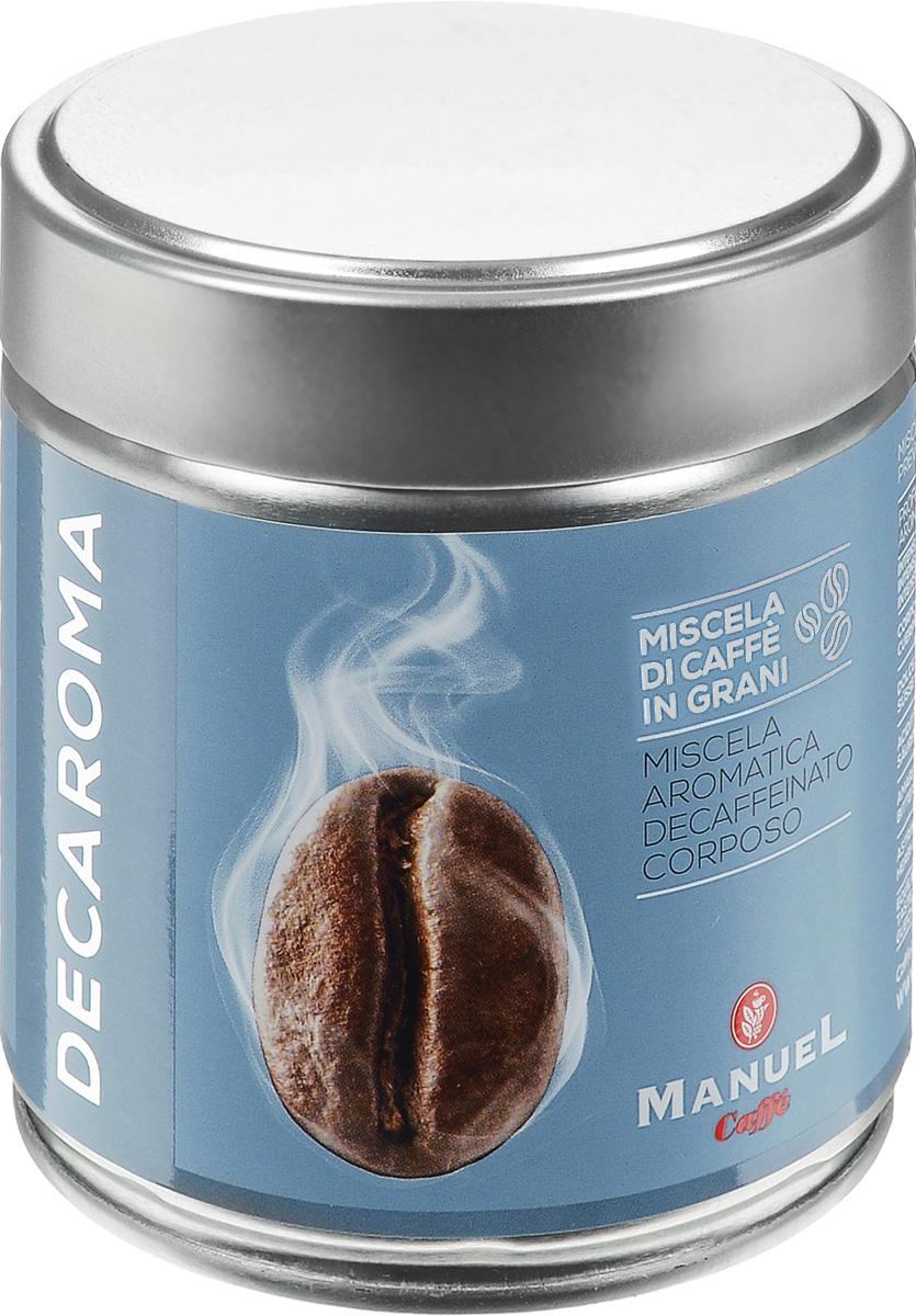 Manuel Decaroma кофе в зернах, 125 г (ж/б)0120710Великолепный кофе Manuel Decaroma с низким содержанием кофеина.