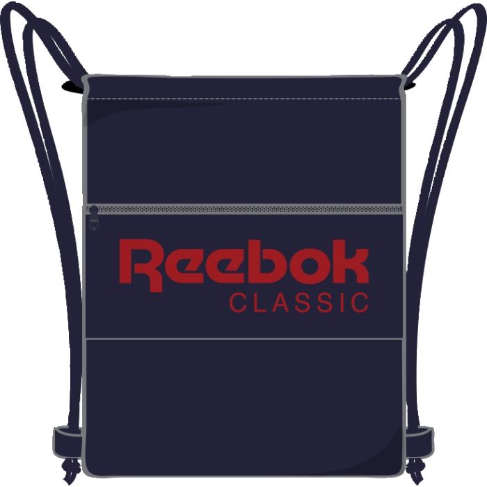 Рюкзак спортивный Reebok Cl Fo Gymsack, цвет: синий. AY0017AY0017Рюкзак спортивный Reebok Cl Fo Gymsack с успехом вместит в себя все необходимое, а в пустом сложенном виде почти не займет места. Потайные карманы отлично подходят для надежного хранения ценных вещей. Модель застегивается на затягивающийся шнурок и дополнена спереди карманом на молнии.