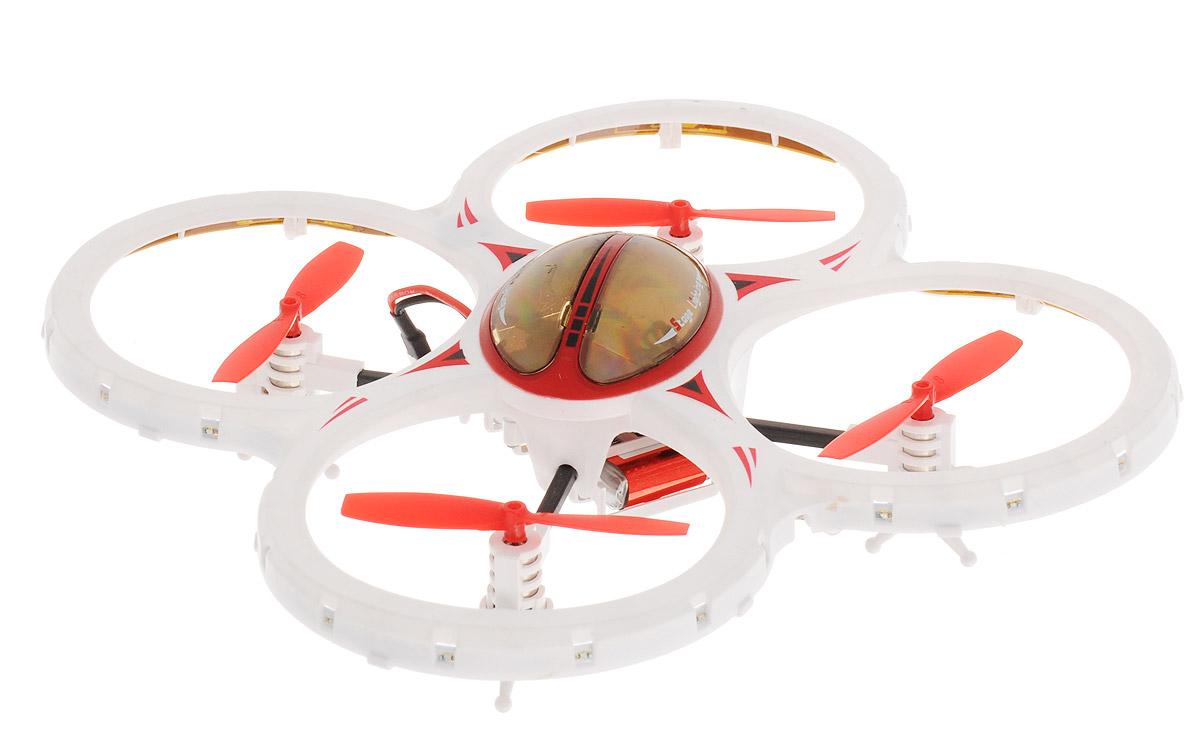 Властелин небес Квадрокоптер на радиоуправлении Звездочка цвет красный белый