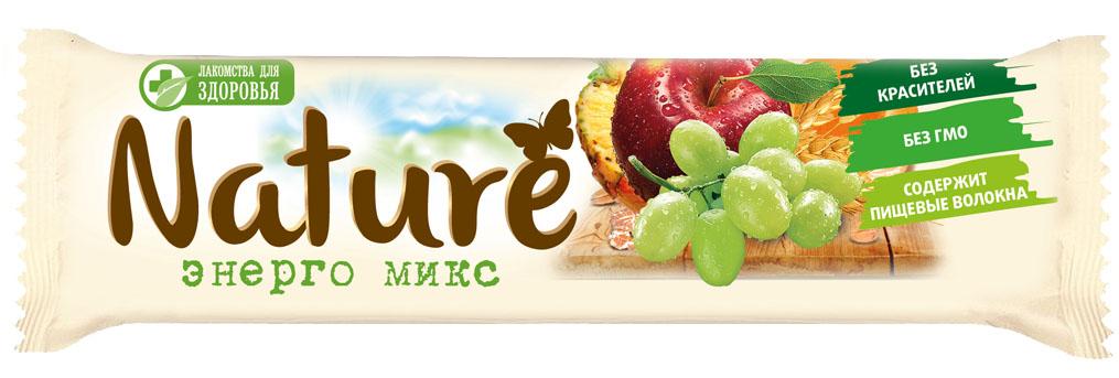 Лакомства для здоровья Nature батончик мюсли Энерго микс, 30 г0120710Вкусный завтрак или перекус для всей семьи!Максимум пользы и вкуса! Батончик мюсли Лакомства для здоровья Nature. Энерго микс - сбалансированный продукт с высоким содержанием полезных ингредиентов, способствующих укреплению здоровья.Уважаемые клиенты! Обращаем ваше внимание, что полный перечень состава продукта представлен на дополнительном изображении.