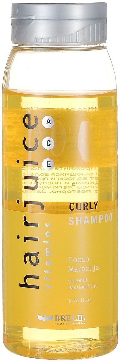 Brelil Шампунь для вьющихся волос HairJuice Curly Shampoo, 200 мл47222Шампунь для вьющихся волос Brelil HairJuice Curly Shampoo мягко питает, увлажняет и очищает волосы благодаря входящему в его состав кокосовому экстракту. Средство эффективно устраняет пушистость волос, делая их гибкими и более послушными при расчесывании. В состав шампуня также входит мультивитаминный комплекс, который придает волосам мягкость, блеск и шелковистость.