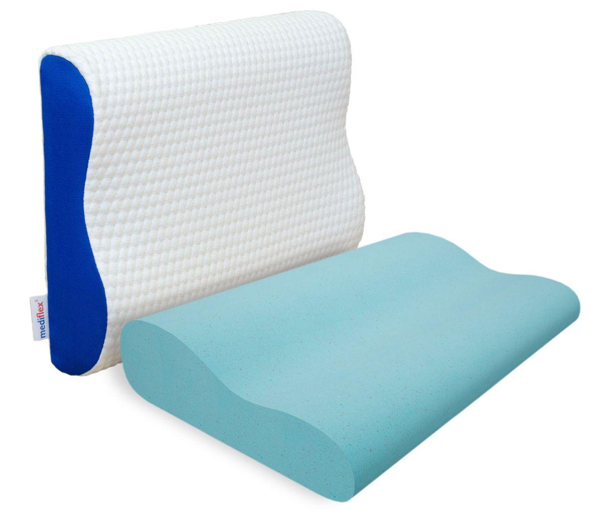 Подушка ортопедическая Mediflex Ergoform, 60 х 40 х 9 см ортопедическая подушка в автомобиль в кировограде